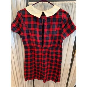 Plaid holiday collared dress